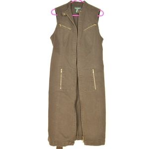 Ralph Lauren Dresses - Ralph Lauren dress denim 10 olive brown drab stret